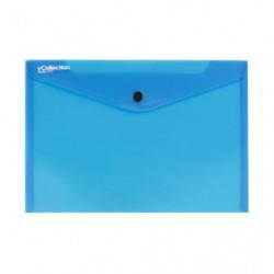 Obal PP s patentkou A4, modrý
