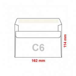 Obálka C6 / 25 samolepicí