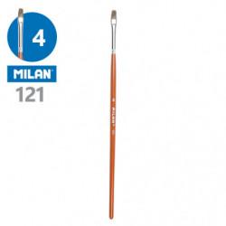 Štětec plochý MILAN č.4 - 121